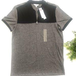 Calvin Klein Extreme Slim Fit Zip Polo T-shirt